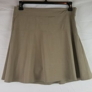 ddbf25bf27 Athleta Shorts | Sz 8 Tan Golf Tennis Hiking Athletic Skort | Poshmark
